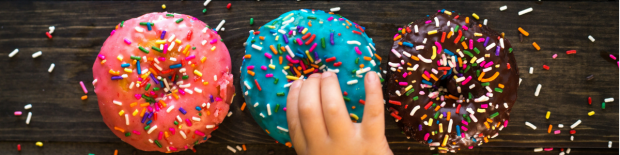 Banner Doughnuts with kids